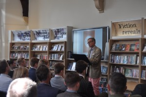 Barnaby Lenon holds talk at Kingham Hill
