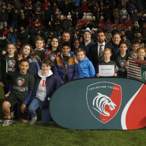 Pupils roar on Leicester Tigers at rugby Premiership match