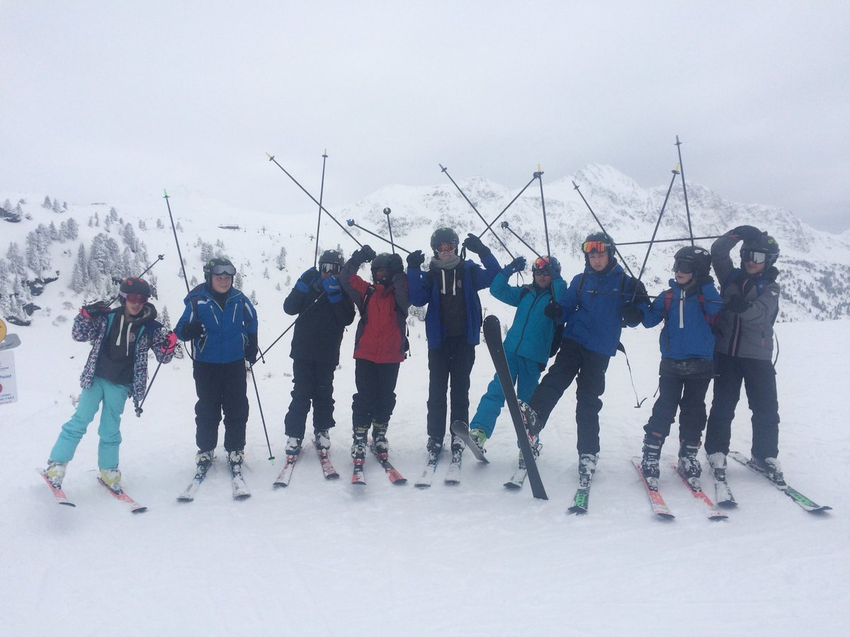 Pupils have snow much fun in Obertauern, Austria on the ski trip