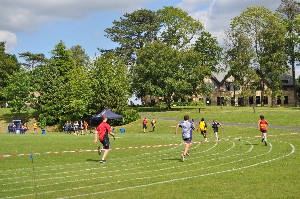 Pupils on their marks for Sports Day