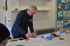 Pupils learn from alumnus during stained glass workshop