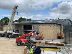 Crane and roofing return